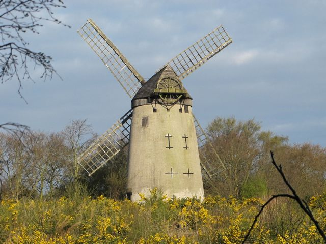 Bidston Windmill on May Day, 2013