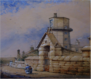 Old Lighthouse And New Observatory, about 1868