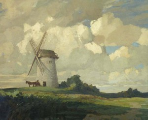 Bidston Windmill by Joseph Owen, oil on canvas. From the collection of Dick Bradshaw.