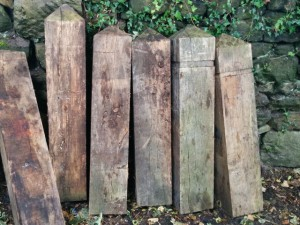 New Heritage Trail posts awaiting installation