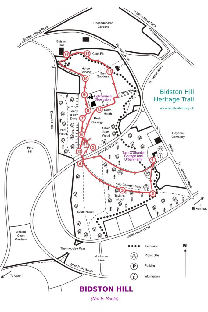 Heritage Trail Map, revised 2015, 960px