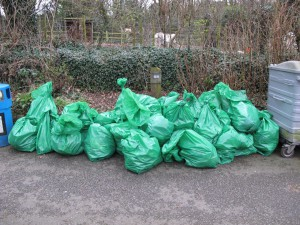 Some of the rubbish collected
