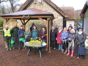 Some of the volunteers, outside Tam O'Shanter Cottage
