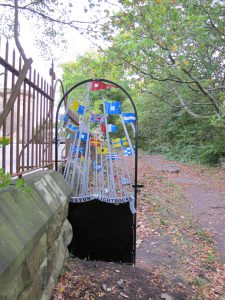 Photograph of new gate onto Bidston Hill