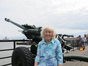 Sylvia Asquith and the one o'clock gun, 18 July 2019.